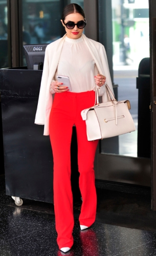 Exclusive - Hollywood, CA - 04/14/2016 - Olivia Culpo leaving a meeting in Hollywood. -PICTURED: Olivia Culpo -PHOTO by: Michael Simon/startraksphoto.com -MS310298 Editorial - Rights Managed Image - Please contact www.startraksphoto.com for licensing fee Startraks Photo Startraks Photo New York, NY For licensing please call 212-414-9464 or email sales@startraksphoto.com Image may not be published in any way that is or might be deemed defamatory, libelous, pornographic, or obscene. Please consult our sales department for any clarification or question you may have Startraks Photo reserves the right to pursue unauthorized users of this image. If you violate our intellectual property you may be liable for actual damages, loss of income, and profits you derive from the use of this image, and where appropriate, the cost of collection and/or statutory damages.