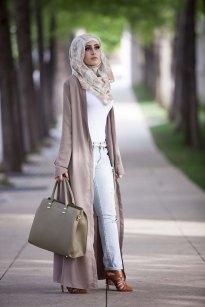 maxi dress hijab style